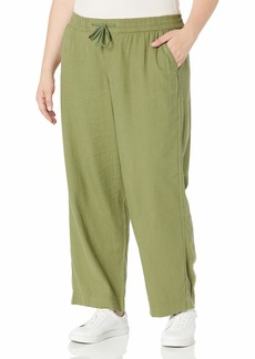 Jessica Simpson Women's Plus Size Nara Drawstring Beach Pant
