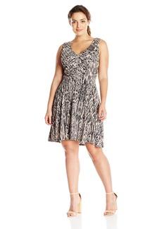 Jessica Simpson Women's Plus Size Nicola Pleated Dress  1X