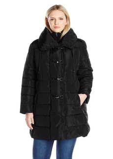Jessica Simpson Women's Plus Size Pillow Collar Puffer Coat