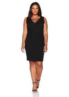 Jessica Simpson Women's Plus Size Terrie Laceup Dress