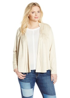 Jessica Simpson Women's Plus-Size Tulip Faux Suede Jacket