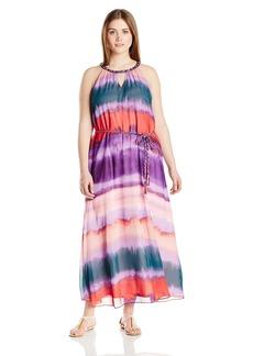 Jessica Simpson Women's Plus-Size Waver Leigh Maxi Dress  2X