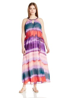 Jessica Simpson Women's Plus-Size Waver Leigh Maxi Dress  3X