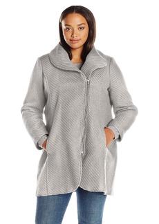 Jessica Simpson Women's Wool Plus Size Zip Up Coat