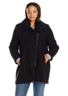 Jessica Simpson Women's Plus-Size Wool Plus Size Zip Up Coat