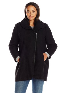Jessica Simpson Women's Plus-Size Wool Plus Size Zip Up Coat
