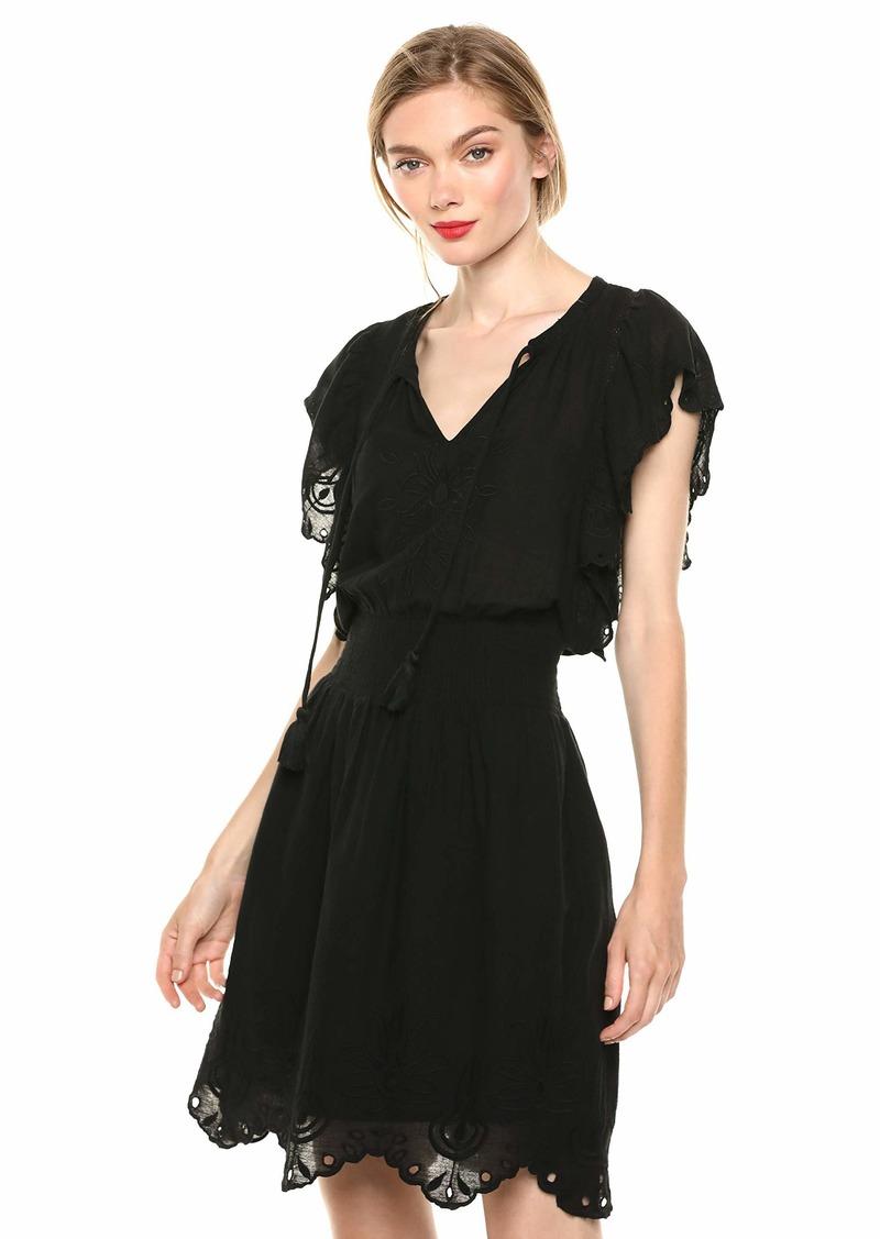 Jessica Simpson Women's Plus Size Wylla Above The Knee A-Line Schiffli Dress  1X