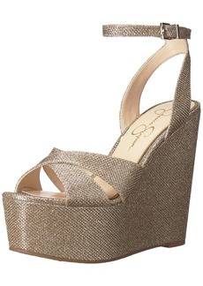 Jessica Simpson Women's Prena Wedge Sandal  10 Medium US