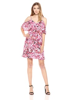 Jessica Simpson Women's Printed Cold Shoulder Dress