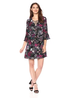Jessica Simpson Women's Printed Lace up Dress