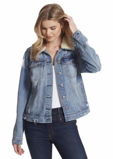 Jessica Simpson womens Reagab Sherpa Collar Denim Jean Jacket   US