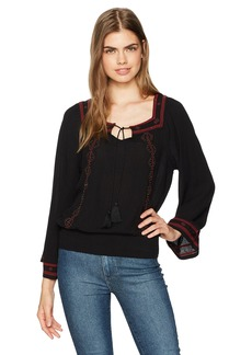 Jessica Simpson Women's Rogan Embroidered Peasant Top