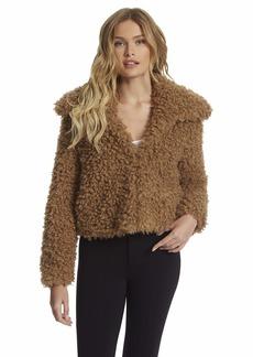 Jessica Simpson womens Sasha Retro Chic Faux Fur Crop Jacket   US