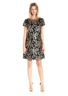 Jessica Simpson Women's Scroll Embellished Sequin Dress