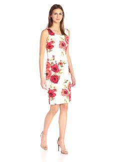 Jessica Simpson Women's Scuba Midi Dress