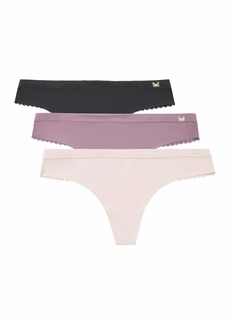 Jessica Simpson Women's Seamless No Show Thong Panties Underwear Multi-Pack