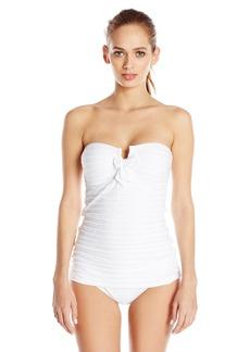 Jessica Simpson Women's Seashells Bandeau Swimsuit