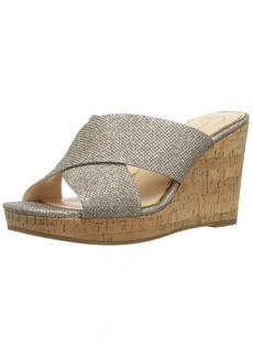 Jessica Simpson Women's Seena Wedge Sandal  6.5 Medium US