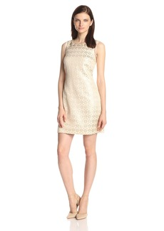 Jessica Simpson Women's Sleeveless Embellished Shift Dress