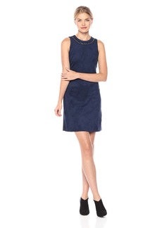 Jessica Simpson Women's Sleeveless Faux Suede Shift Dress