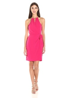 Jessica Simpson Women's Sleeveless Faux Wrap Dress