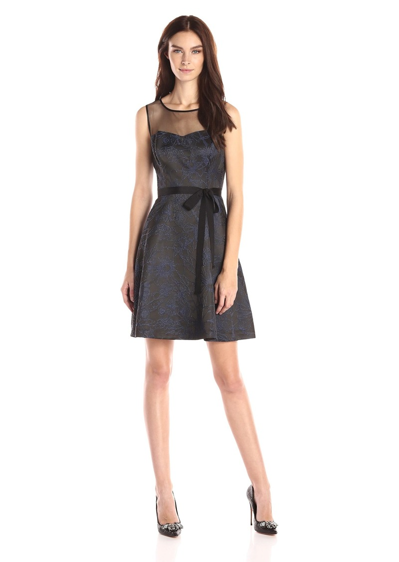 Jessica Simpson Women's Sleeveless Fit-and-Flare Party Dress