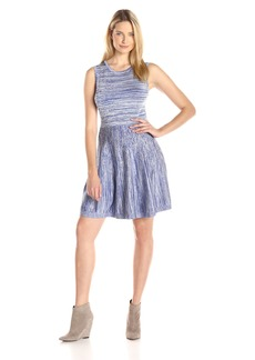 Jessica Simpson Women's Sleeveless Fit and Flare Sweater Dress