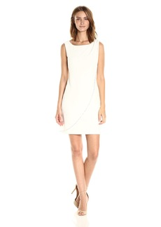 Jessica Simpson Women's Sleeveless Front Drape Dress