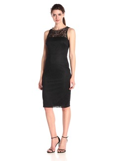 Jessica Simpson Women's Sleeveless Lace Midi Dress