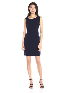 Jessica Simpson Women's Sleeveless Ity Dress with Front Drape