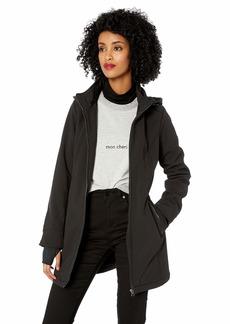 Jessica Simpson Women's Softshell French Terry Fleece Jacket Bonded Black XL