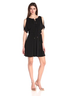 Jessica Simpson Women's Solid Ity Dress with Lace up Front