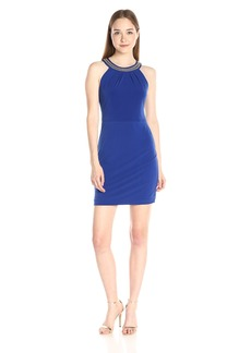 Jessica Simpson Women's Solid Ity Dress with Neck Detail