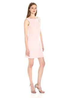 Jessica Simpson Women's Solid Ity Front Drape Dress