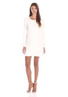 Jessica Simpson Women's Solid Satin Crepe Shift Dress