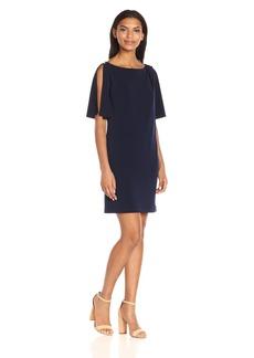 Jessica Simpson Women's Solid Split Sleeve Dress
