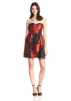 Jessica Simpson Women's Strapless Fit-and-Flare Dress