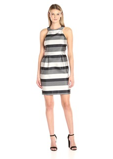 Jessica Simpson Women's Stripe Bow Back Party Dress