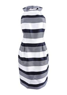 Jessica Simpson Women's Stripe Bow Back Party Dress