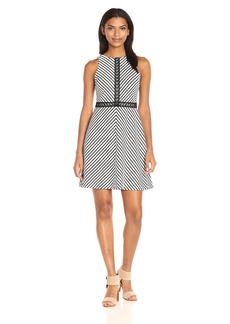 Jessica Simpson Women's Stripe Twill Knit Dress