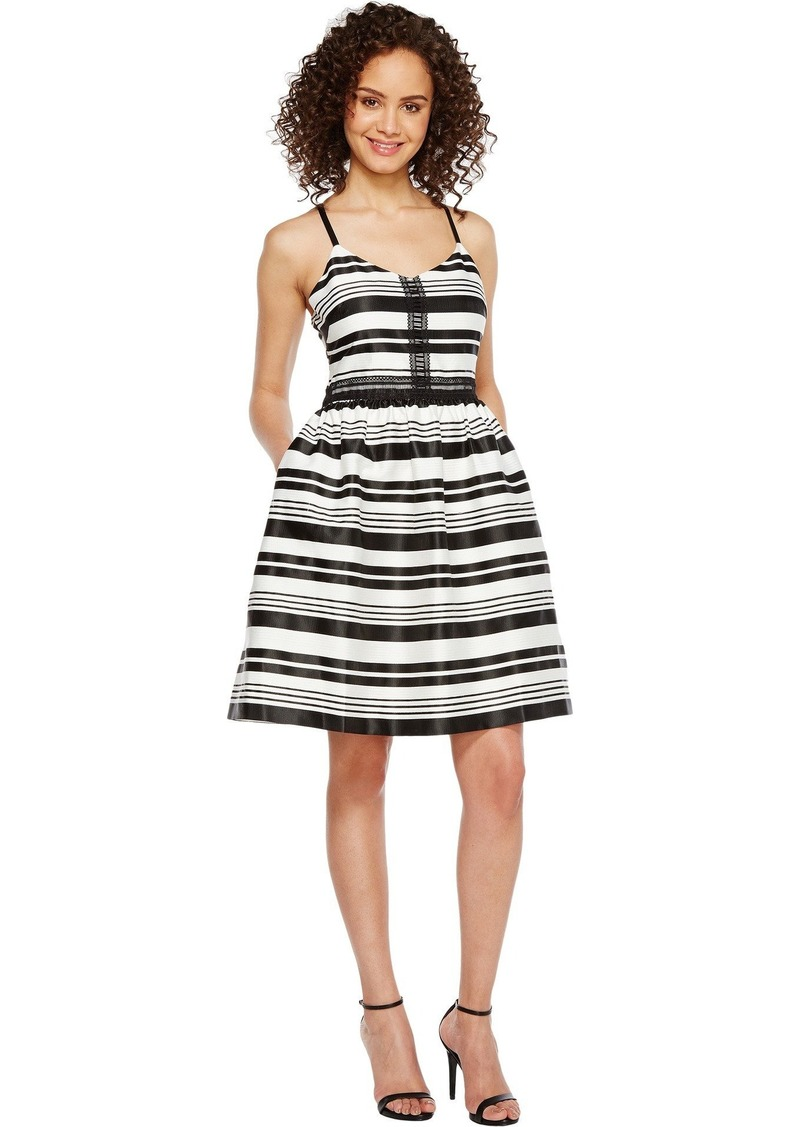 Jessica Simpson Women's Striped Party Dress