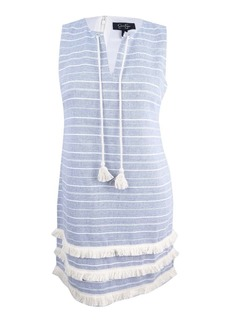 Jessica Simpson Women's Striped Tweed Shift Dress