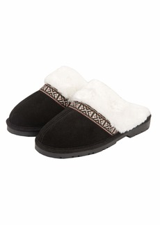 Jessica Simpson womens Genuine Suede Plush on Scuff House With Indoor/Outdoor Sole Slipper   US