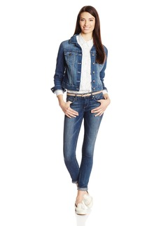 Jessica Simpson Women's Superloved Pixie Crop Jean Jacket