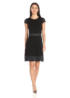 Jessica Simpson Women's Sweater Knit Fit and Flair Dress  S