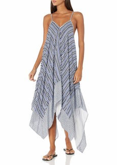 Jessica Simpson Women's Swimsuit Lace Front Bathing Suit Cover Up  S