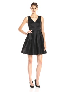 Jessica Simpson Women's Taffeta Bow Back Party Dress