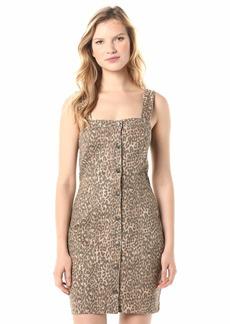 Jessica Simpson Women's Taye Denim A-Line Button Front Dress