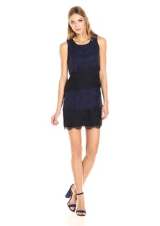 Jessica Simpson Women's Tiered Scalloped Lace Dress