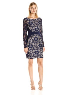 Jessica Simpson Women's Tropical Bonded Lace Dress